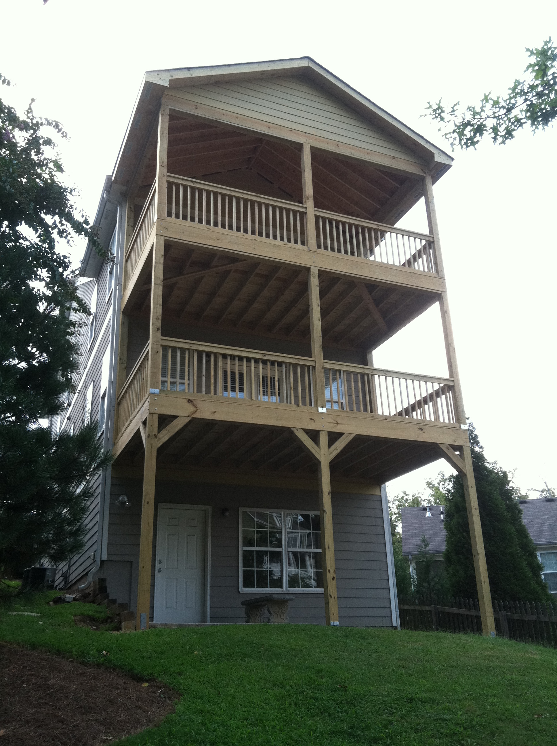 Additions for Two story deck